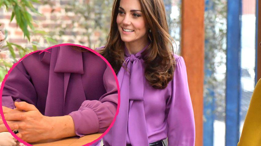 Mit dieser bunten Bluse sorgt Herzogin Kate jetzt für Wirbel