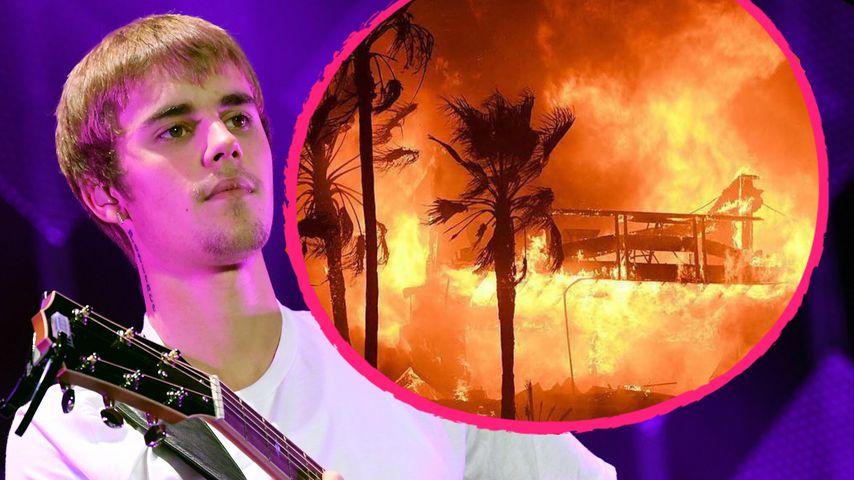 Riesenbrand in L.A.: Justin Bieber will Opfern helfen!
