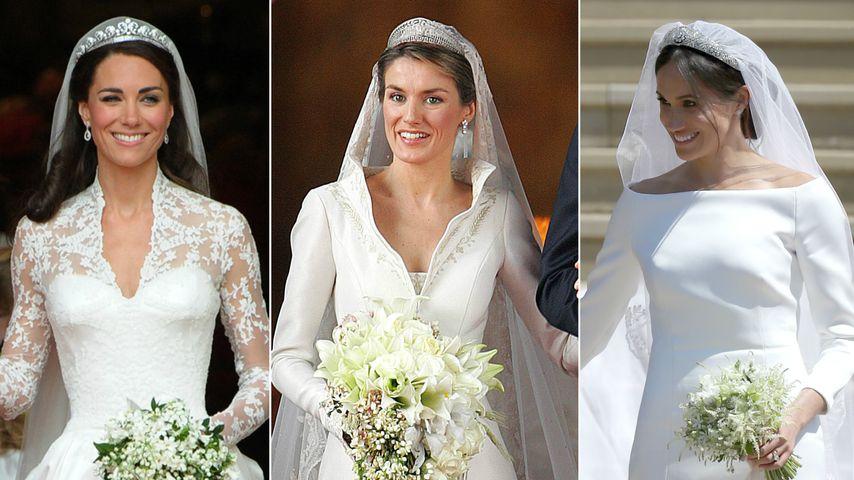 Kate, Letizia oder Meghan? Das war das teuerste Brautkleid!