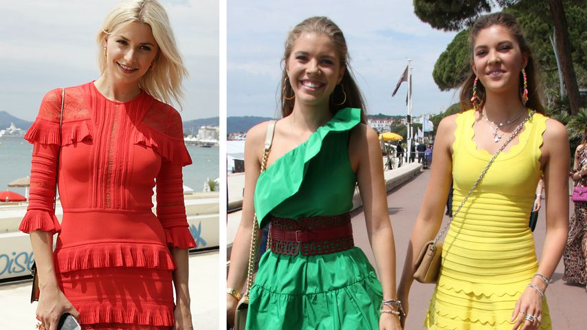 Look abgesprochen? Lena Gercke & Swarovski-Girls in Cannes