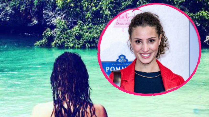 Schöne Aussicht: Nadine Menz' sexy Grüße aus dem Paradies!