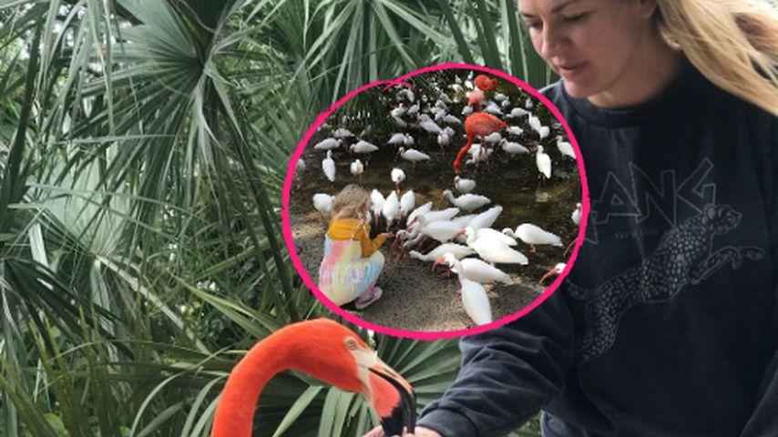 Urlaubsspaß: Nina Bott relaxt mit ihrer Familie in Florida