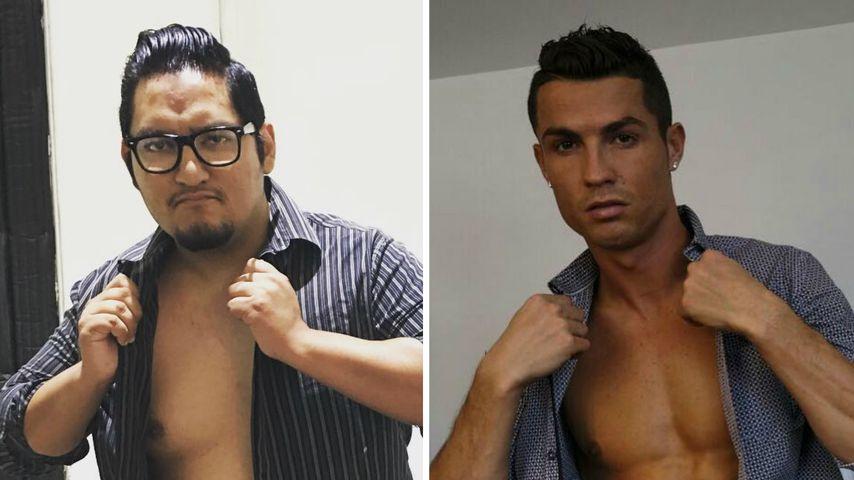 Wie sein Idol: Dieser Normalo macht auf Cristiano Ronaldo!