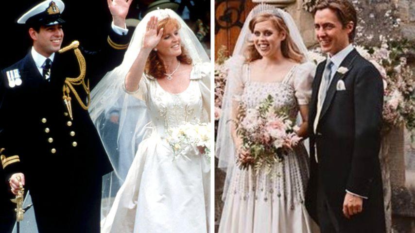 So ähnlich sah Beatrice Mama Sarah an ihrem Hochzeitstag
