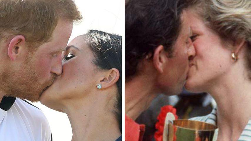 Wie Meghan und Harry: Charles und Di knutschten öffentlich