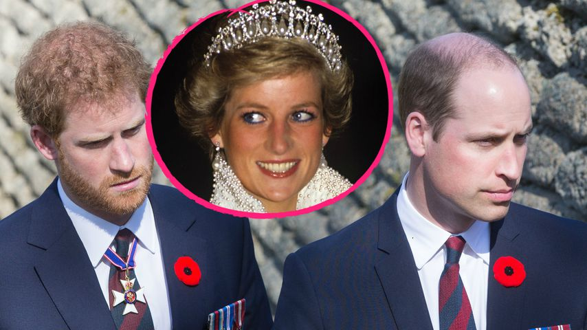 Rührend: Prinz William & Harry gedenken ihrer toten Mama!