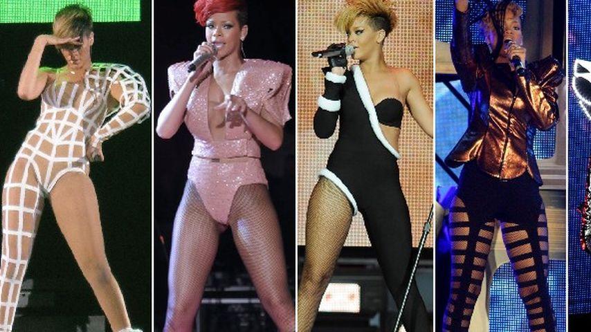 Voting: Das waren Rihannas Bühnenoutfits 2010