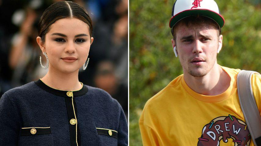 Collage: Selena Gomez und Justin Bieber