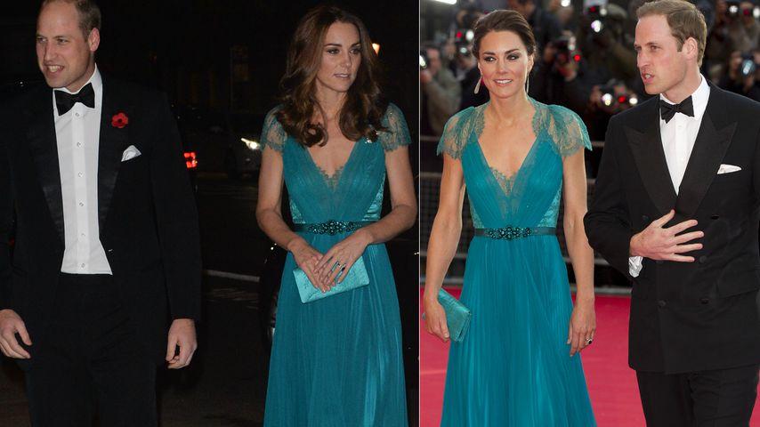 Award-Show mit William: Herzogin Kate recycelt wieder Kleid!