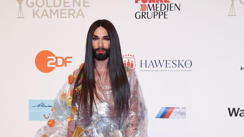 Conchita Wurst auf dem Red Carpet der Goldenen Kamera 2018