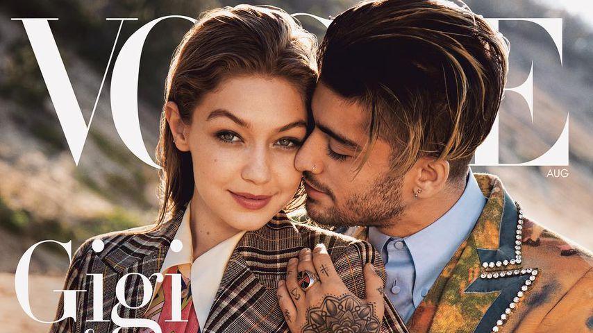 Liebesdoppel: Gigi Hadid kuschelt mit Zayn auf Vogue-Cover!