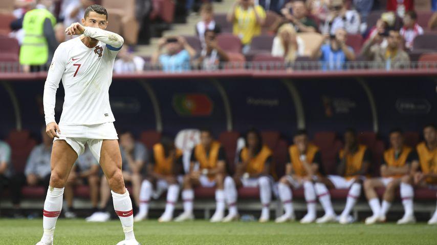 Cristiano Ronaldo bei einem Freistoß