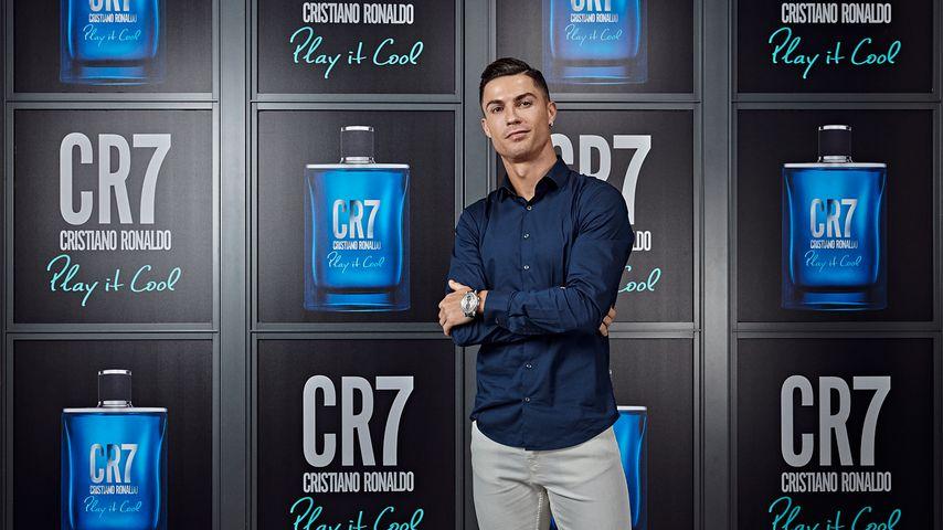 Cristiano Ronaldo beim Launch seines Parfüms in Turin im September 2019