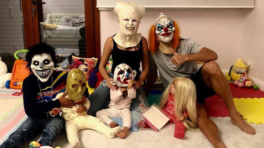 Hier posiert Cristiano Ronaldos ganze Familie im Grusel-Look