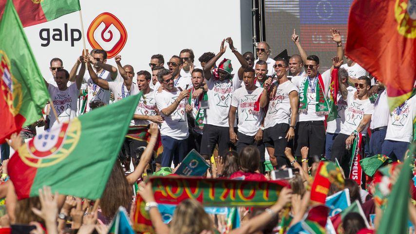 Cristiano Ronaldo bei der EM-Feier in Lissabon