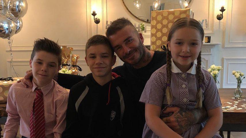 Cruz, Romeo, David und Harper Beckham
