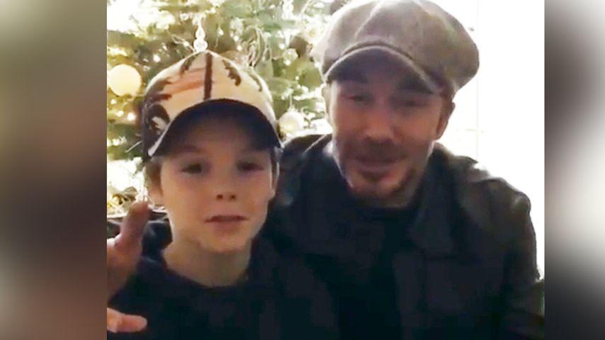 Peinlicher Papa: So süß blamiert David Beckham Söhnchen Cruz