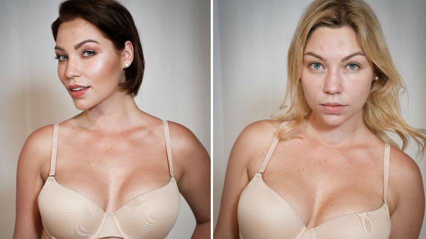 """""""Curvy Supermodel""""-Kandidatin Bianca nach und vor dem Umstyling"""