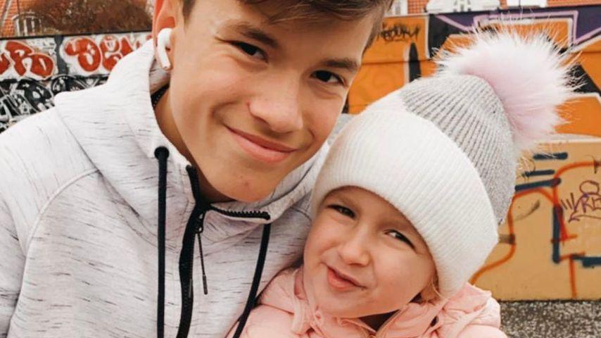 Damian van der Vaart mit seiner Schwester Jesslynn