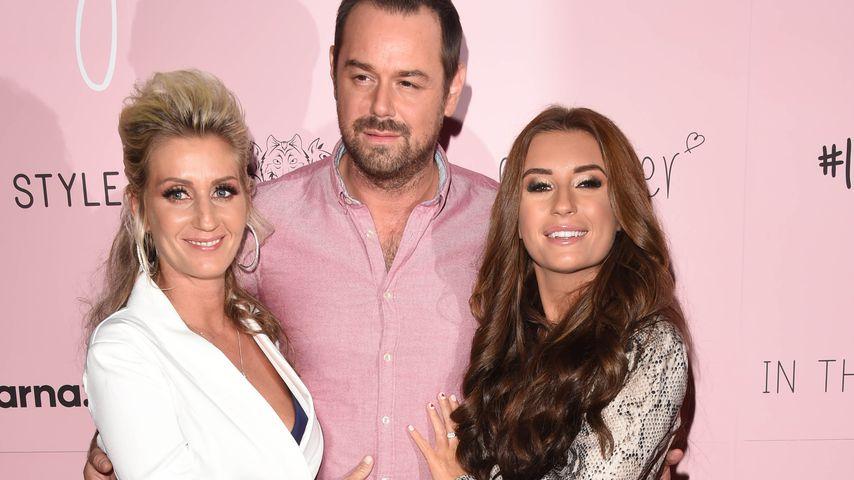 Dani Dyer zusammen mit Joanna Mas und Danny Dyer