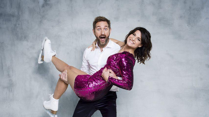 """Daniel Boschmann und Marlene Lufen, Moderatoren bei """"Dancing on Ice"""""""