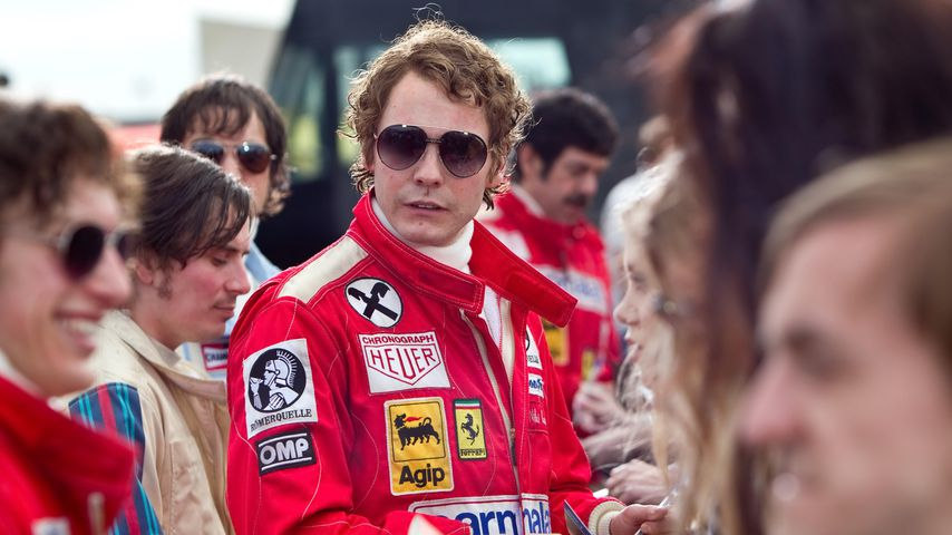"Daniel Brühl als Niki Lauda im Film ""Rush"""