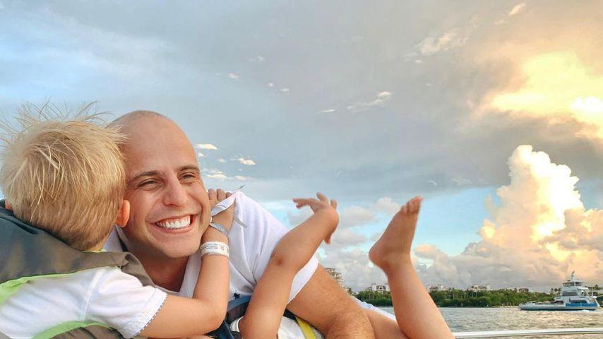Daniel Kolenitchenko mit seinem Sohn Milan und seiner Tochter Arielle