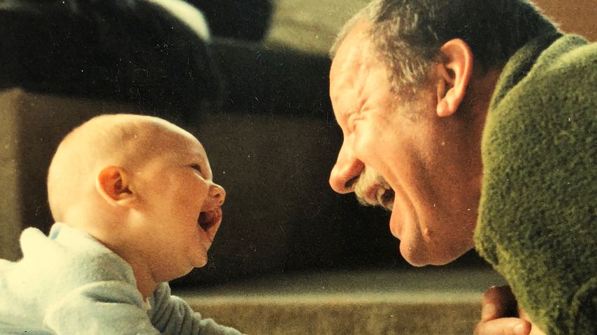 Daniel Völz mit seinem Opa Wolfgang
