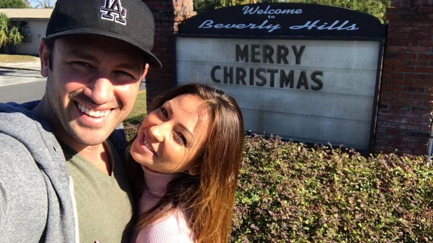 Daniel Völz und Kristina Yantsen an Weihnachten in Florida