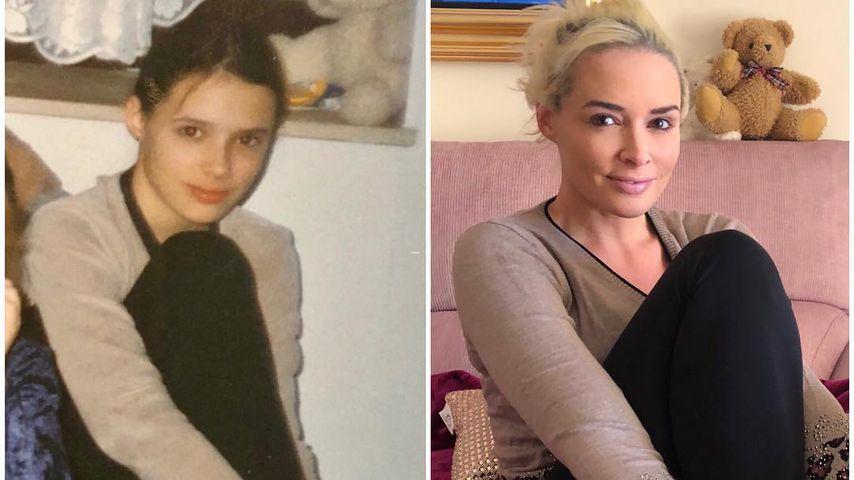 Daniela Katzenberger im Jahr 1998 und Anfang 2019