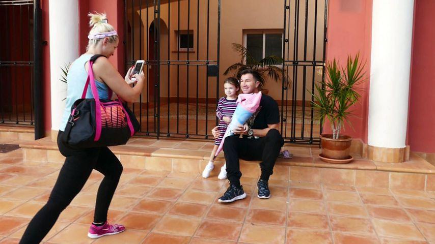 Daniela Katzenberger mit Lucas und Sophia Cordalis auf Mallorca