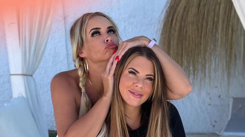 Süßer Schwestern-Post: Hier posen Dani und Jenny Frankhauser