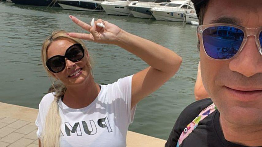 Daniela Katzenberger und Lucas Cordalis im Juli 2021