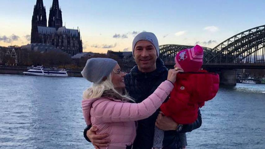 Daniela Katzenberger und Lucas Cordalis mit Tochter Sophia in Köln