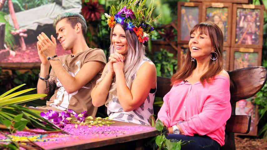 Daniele Negroni, Dschungelkönigin Jenny Frankhauser und Tina York