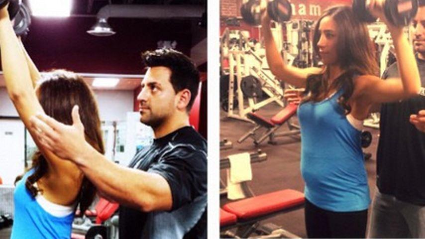 Krass: Schwangere Danielle Jonas stemmt Gewichte!