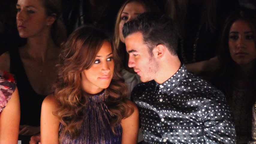 Danielle Jonas mit Ehemann Kevin bei der Mercedes-Benz Fashion Week in New York, 2012