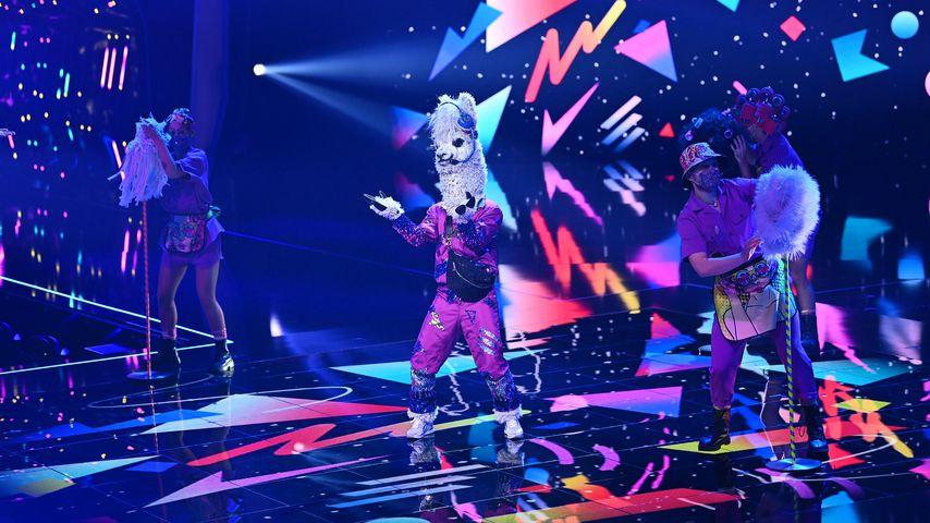 """Das Alpaka beim Live-Auftritt in der dritten Folge von """"The Masked Singer"""""""