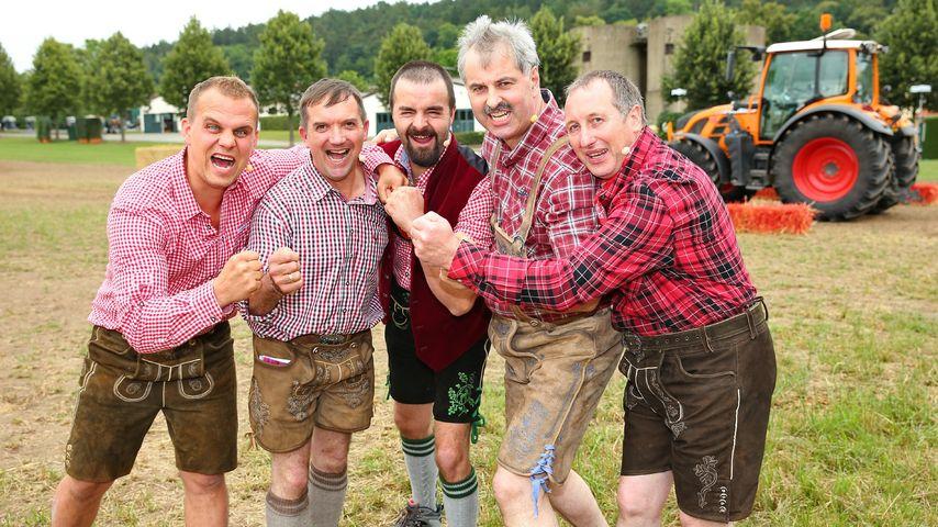 Das Bauern-Team bei der RTL-Bauernolympiade