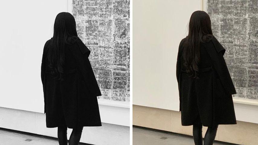 Collage: Das gleiche Foto von Linda Nobat in Paris