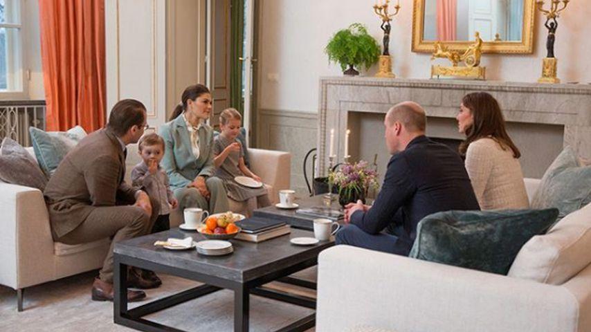 Das schwedische Königshaus trifft die britischen Royals in Stockholm