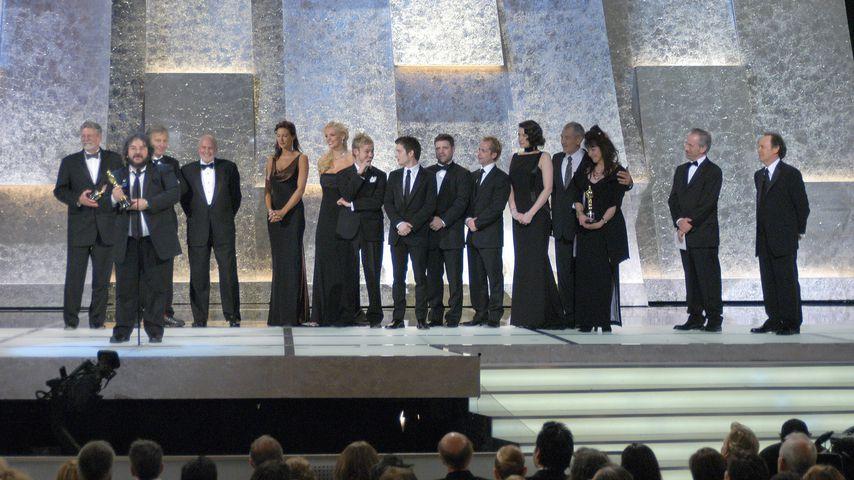 """Das Team von """"Herr der Ringe - Die Rückkehr des Königs"""" bei der Oscarverleihung 2004"""