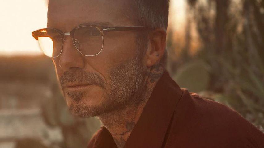 Mit Bart und Brille: David Beckham begeistert Fans im Netz