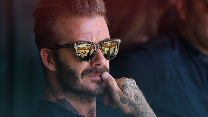 David Beckham im Angel Stadium in Anaheim im August 2016
