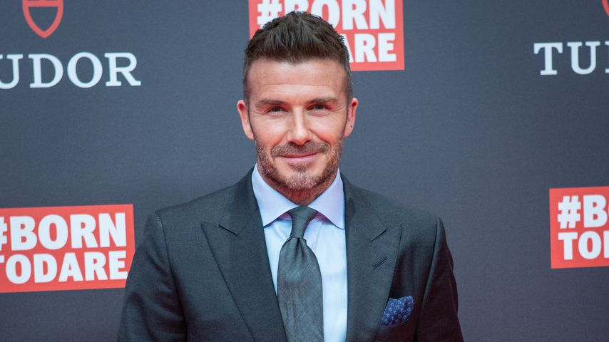 David Beckham im April 2019 in Madrid