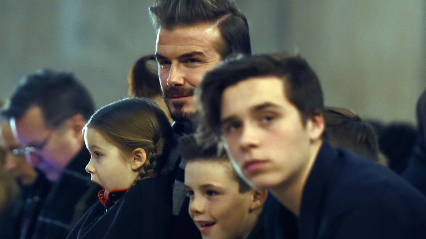 So knutscht ein Beckham! David sendet Brooklyn Liebes-Post