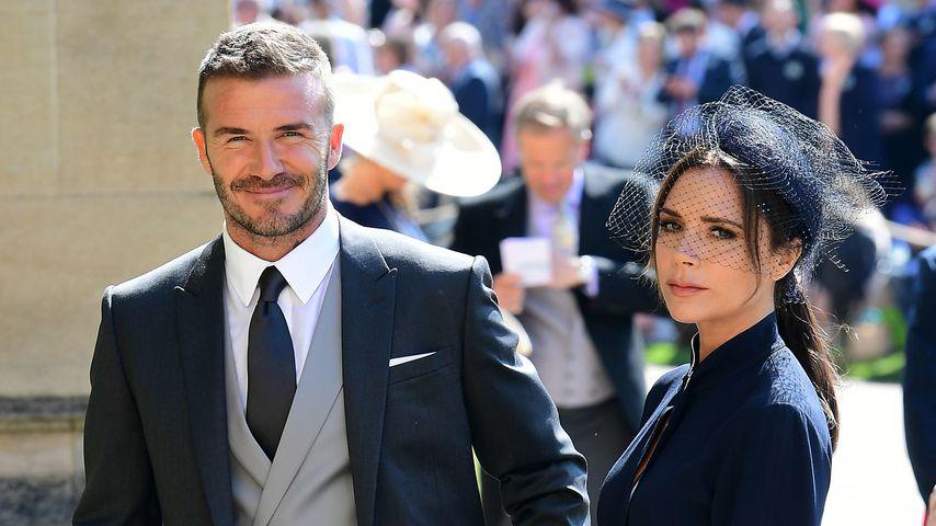 David Beckham und Ehefrau Victoria vor der Royal-Hochzeit im Mai 2018