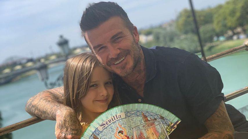 David Beckham und seine Tochter Harper in Spanien