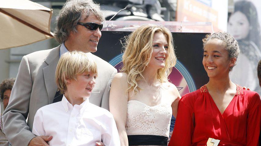 David E. Kelley und Michelle Pfeiffer mit ihren Kindern John und Claudia in Hollywood, 2007