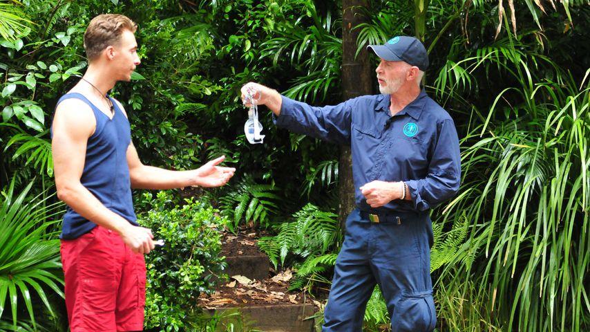 David Friedrich bei der Einführung in die Dschungelprüfung an Tag 10